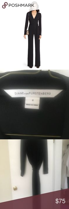 818589ef432 Diane Von Furstenberg Margot Crepe Pantsuit. She s in perfect condition.  She has been worn and tailored for my 5 4 frame. Specifically tailored to  wear with ...