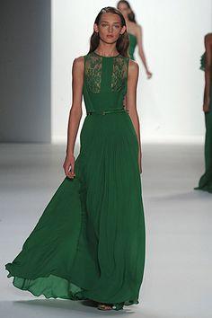 Elie Saab green SS 2012