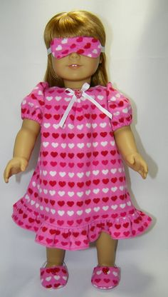 Nightgown with Extras for American Girl doll via Etsy