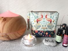 Your place to buy and sell all things handmade Essential Oil Carrier Oils, Essential Oil Storage, Peacock Print, Bottle Bag, Unique Bags, Bird Prints, Uk Shop, Travel Bag, Aromatherapy
