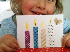 Geburtstagseinladung mit maskingtape