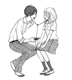 Find images and videos about cute, couple and anime on We Heart It - the app to get lost in what you love. Manga Anime, Manga Art, Manga Love, Anime Love, Takano Ichigo, Anime Drawing Styles, Cute Couple Art, Cute Anime Couples, Manga Illustration