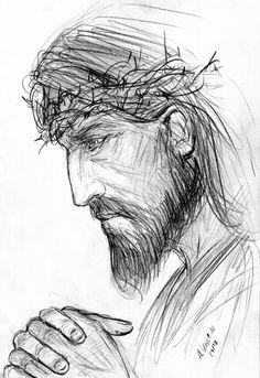 jesus drawings drawing sketch easy pencil amazing painting deviantart christus christ simple andrekosslick disegni arte tattoo disegno skizzen sketches gesu