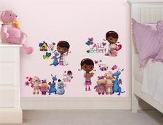 New DOC MCSTUFFINS WALL DECALS Disney Bedroom Stickers Girls Toy Room Decor #Roommates