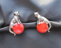 Regal Leopard Clip On Earrings by DresdenCreations on Etsy, $18.00