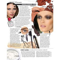 Vogue British Editorial Smokey eyes TILL I DIE!, July 2013 Shot #2 -... ❤ liked on Polyvore featuring editorials