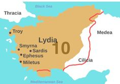 546 B.C.E.: Persia conquers Lydia and Croesus.