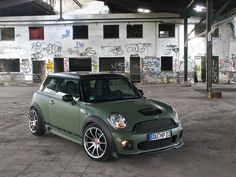 Mini Cooper JCW - Love the matte sage green body, but I hear it's very difficult to maintain.