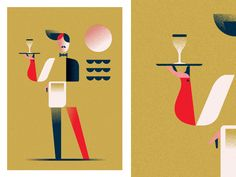 Waiter Sea - WIP (Shapes '17) by AQ Studio #Design Popular #Dribbble #shots