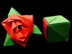 How to make: Origami Magic Rose Cube  step-by-step Tutorial on how to fold this great design packed w/ magic!. Origami Design by: Valerie Vann Tutorial by: German R.Fernandez