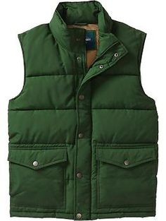 Men's Quilted Frost Free Vests | Old Navy