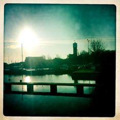 The harbor, Slite, Gotland, Sweden. Hipstamatic.