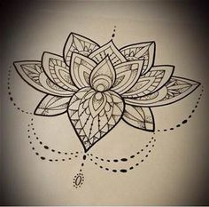 Lotus mandala design