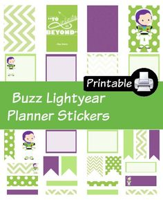 Disney Buzz LIghtyear Toy Story PDF PRINTABLE Planner Stickers Happy Planner…