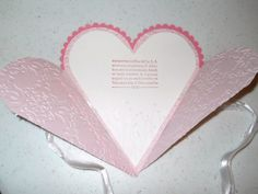 pinterest stamping cards | Petal Cone Valentine |