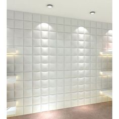 3D Contemporary Wall Panels Forever Design (Pack of 10) (10 sheets/per box. Each Box 26.67 square ft), White