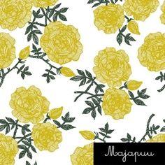 Digitrikoo: Ruusut valkoinen-keltainen