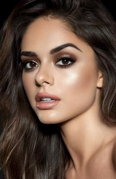 Natural Makeup For Brown Eyes, Makeup Looks For Brown Eyes, Prom Makeup Looks, Smokey Eye For Brown Eyes, Smokey Eyes, Eye Makeup Steps, Eye Makeup Art, Hair Makeup, Edgy Makeup