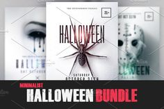 03 Halloween Bundle Minimalist Flyer by Creative Flyers on @creativemarket