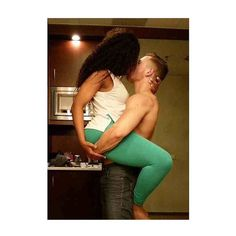 Sexy interracial couple locked in a steamy kiss #love #wmbw #bwwm
