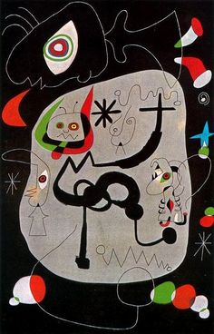 Joan Miró, Dancer Listening to the Organ in a Gothic Cathedral, 1945