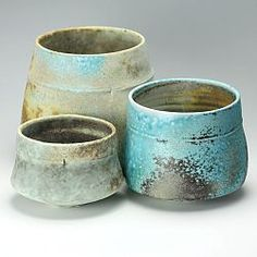 Three soda fired bowls by Jack Doherty