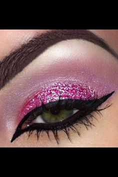 Pink glitter eyeshadow!!! Bebe'!!! Beautiful for a ballerina!!!