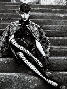 2011. Interview magazine. Model Emily Baker. Photo by Mert Alas (B1971) and Marcus Piggott(B1971)