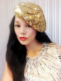 Gold Sequin Beret,Womens Turban,Full Turban,Turban Headband,Turban Hat,Stretch Turban, Caps, Hats, Women Hats,Fashion Turban,Head Wrap,Head Scarf,Headband,Hipster,Fashion,Gift ,Show, Party ,Holiday. Incomparable shining, to add more charm. Easily adapt to your head shape and are designed to afford the individual wearer room to perfect their chosen positioning. This style can be worn centrally or to the side for an asymmetrical finish and is suitable for those with and without hair.About...