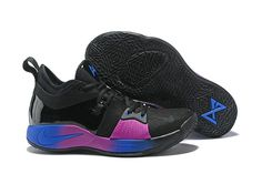 a93beaab7e 2018 Nike Paul George 2 x Nike PG 2 Black Purple Blue Cheap Nike Shoes  Online