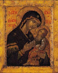 Мати Молебница (На обороте Голгофский Крест)