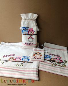 Conjunto de bolsas pintadas para bebé