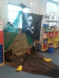 Pirate ship role play area. Eyfs