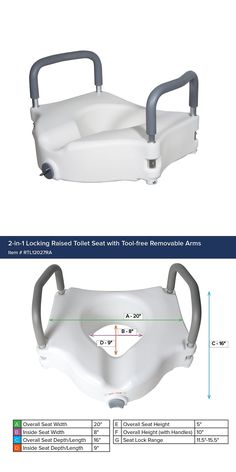 Toilet Seats: Drive Medical Elevated Raised Toilet Seat With Removable Padded Arms, -> BUY IT NOW ONLY: $35 on eBay!