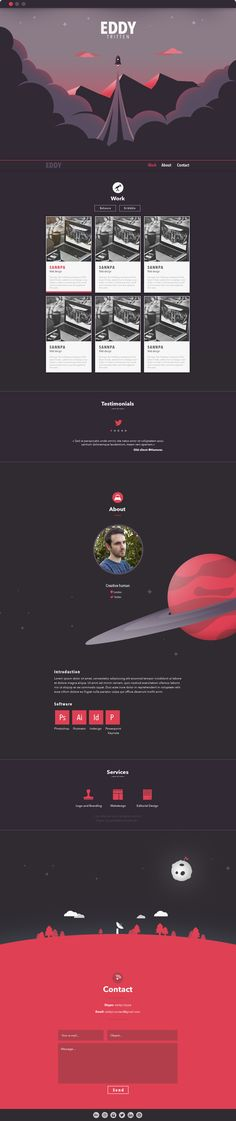 This is a website mockup for my portfolio. January 2015.