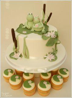 Lilypad Love Wedding Cake ...  - Cake by Sugargourmande Lou https://www.facebook.com/SugarandSpiceGourmandise