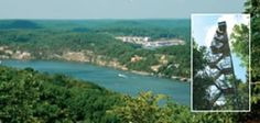 A Breathtaking View from Thunder Mountain's 80-foot Observation Tower Lake of the Ozarks, MO