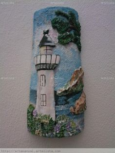 Clay Wall Art, Clay Art, Frames On Wall, Framed Wall Art, Paper Crafts Magazine, Tile Crafts, Lighted Wine Bottles, Decoupage Vintage, Craft Club