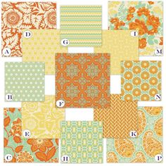 crib sheets - paisley (bottom right) & one of the yellow ones / center one? $40 or 2 for $75