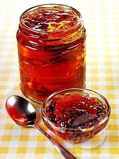 unusual jams, jellies, and preserves hand-picked recipes featuring homemade jams, jellies & marmalades. Jam Recipes, Canning Recipes, Canning Tips, Drink Recipes, Crab Apple Recipes, Cooker Recipes, Chutneys, Homemade Marmalade Recipes, Antipasto