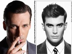 "I love the comparison here!  On the left 1950-1960 ""business man"" look.  On the right, 2012 professional look.  Modern-ized version of the classic."