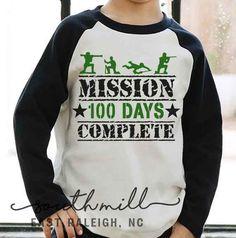 Mission 100 Days Complete, Military Svg 100 Days of school cut file, Teacher Svg, Boy 100 days of school, Football helmet Svg