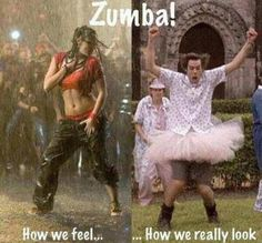 Thursday night is my Zumba night. Pretty sure I look like the guy on the right but I don't care.