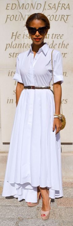 White Midi Dress