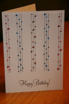 Can't get much more simple... and a great way to use up all those rhinestones sitting in the drawer.