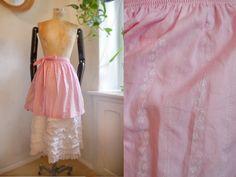 German Apron pinkt folk apron SHORT extra short Cotton Dirndl baking traditional Austrian fashion by SuitcaseInBerlin on Etsy