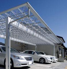 スタイリッシュカーポート Mシェード[三協アルミ]|京阪グリーン|滋賀県・京都|エクステリア・ガーデン・外構工事|