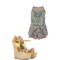 A fashion look from March 2015 featuring Camilla rompers and Gucci sandals. Browse and shop related looks.