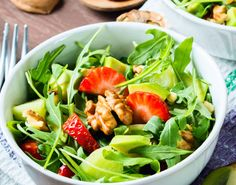 Try Dr. Perlmutter's Avocado-Walnut Salad recipe. It makes a delicious lunch or light dinner!