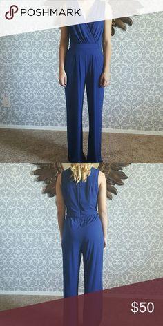 e408ad91696 Vince Camuto Blue Jumpsuit You never have enough jumpsuits! Elegant blue  jumpsuit by Vince Camuto